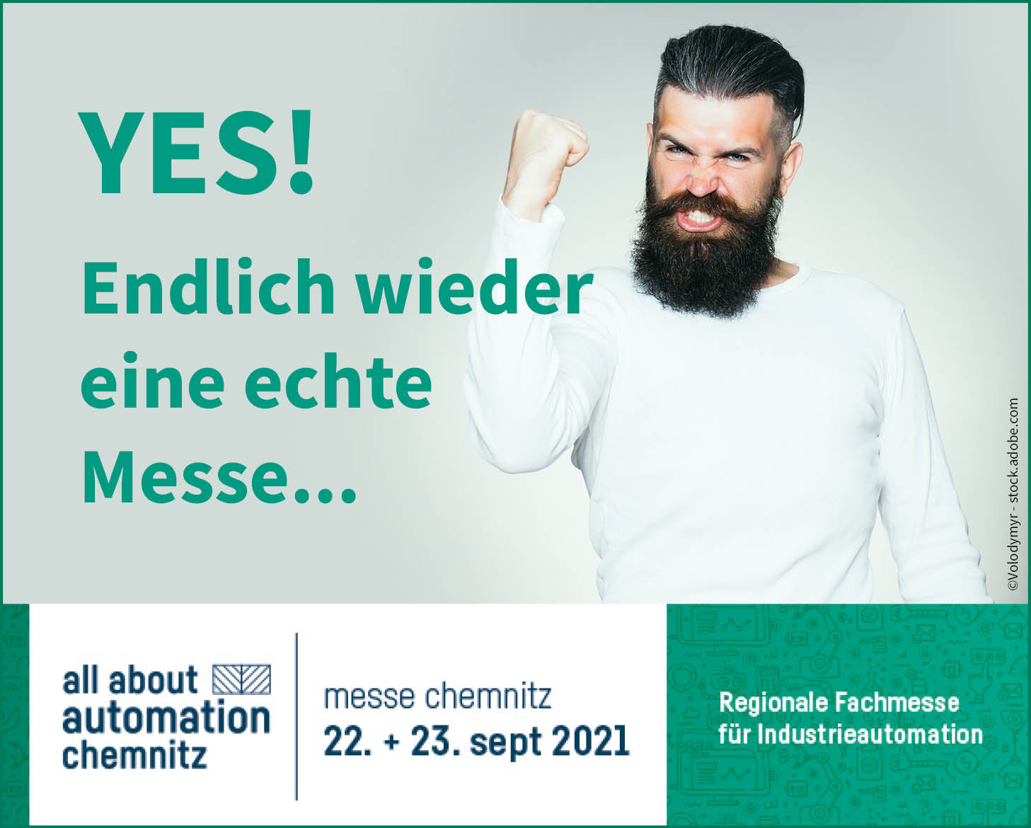 Fachmesse all about automation 2021 in Chemnitz